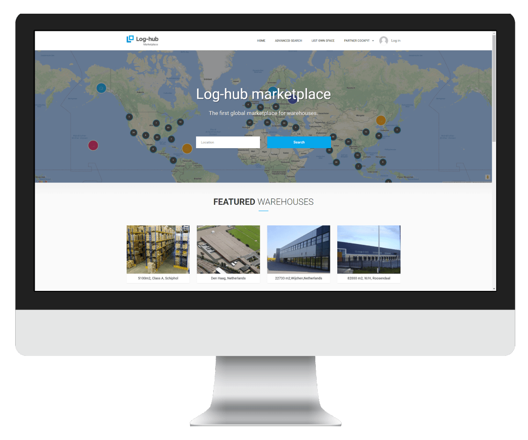Log-hub, Warehouse Marketplace, On-Demand Warehousing