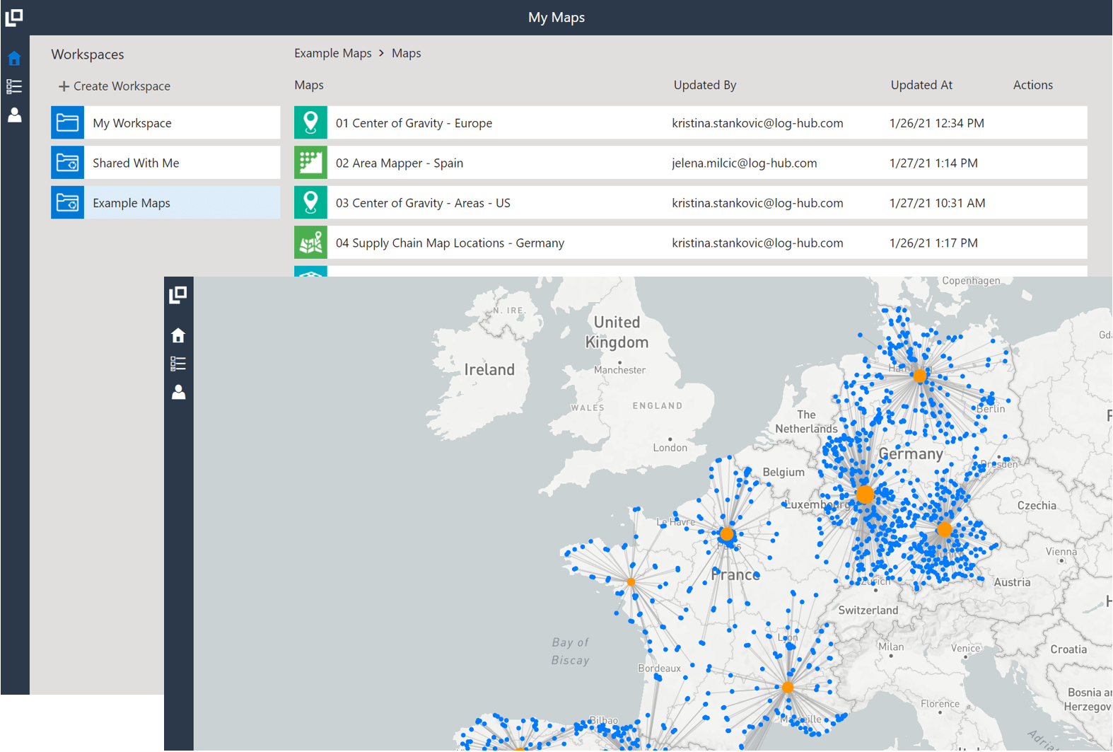 My Maps is a powerful geospatial analysis platform to create, share and embed maps.